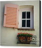 A Sweet Shuttered Window Canvas Print by Lainie Wrightson