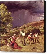 A Thunder Shower, 1859 Canvas Print