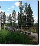 A Trail's Footbridge Canvas Print