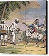 A Troupe Of Bayaderes, Or Indian Canvas Print by Pierre Sonnerat