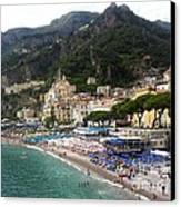 A View Of Amalfi Canvas Print by H Hoffman