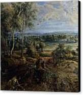A View Of Het Steen In The Early Morning Canvas Print by Peter Paul Rubens