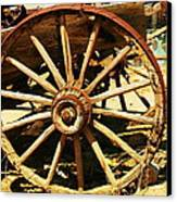A Wagon Wheel Canvas Print