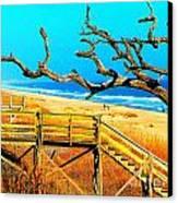 A Walk On Atlantic Beach Canvas Print