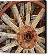 A Wheel In A Wheel Canvas Print by Phyllis Denton