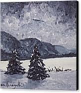 A Winter Evening Canvas Print by Monica Veraguth