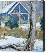 A Winter Walk In The Park Canvas Print