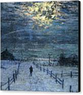 A Wintry Walk Canvas Print by Lowell Birge Harrison