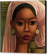 A Woman From Bali Canvas Print by Miguel Covarrubias