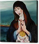 A Woman In Prayer Canvas Print by Joseph Demaree
