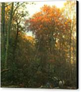 A Woodcutter At Work Canvas Print