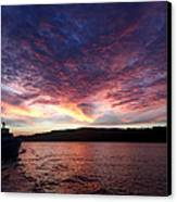 A Wreck Under Tow Canvas Print by Christine Burdine