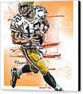 Aaron Rodgers Scrambles Canvas Print