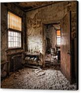 Abandoned Asylum - Haunting Images - What Once Was Canvas Print by Gary Heller