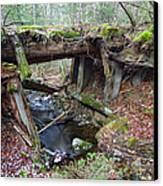 Abandoned Boston And Maine Railroad Timber Bridge - New Hampshire Usa Canvas Print
