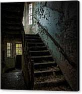 Abandoned Building - Haunting Images - Stairwell In Building 138 Canvas Print by Gary Heller