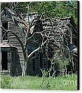 Abandoned Country Kansas Farm House Canvas Print by Robert D  Brozek