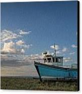 Abandoned Fishing Boat Digital Painting Canvas Print