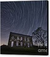 Abandoned History Star Trails Canvas Print by Michael Ver Sprill