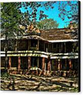 Abandoned Mansion Canvas Print by Kristie  Bonnewell