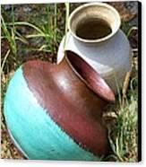 Abandoned Pots Canvas Print
