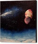 Above Alien Clouds Canvas Print