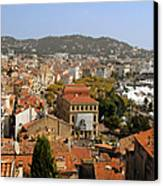 Above The Roofs Of Cannes Canvas Print by Christine Till