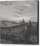 Abraham Journeying Into The Land Of Canaan Canvas Print