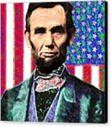 Abraham Lincoln 20130115 Canvas Print by Wingsdomain Art and Photography