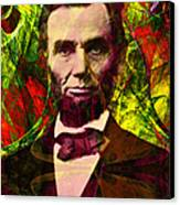 Abraham Lincoln 2014020502p28 Canvas Print by Wingsdomain Art and Photography