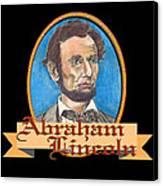 Abraham Lincoln Graphic Canvas Print by John Keaton