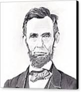 Abraham Lincoln Canvas Print by Lou Knapp