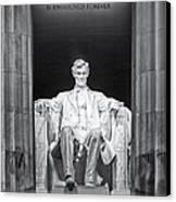 Abraham Lincoln Memorial Canvas Print by Susan Candelario