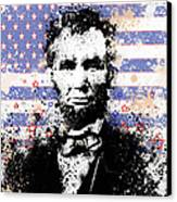 Abraham Lincoln Pop Art Splats Canvas Print by Bekim Art