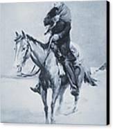 Abraham Lincoln Riding His Judicial Circuit Canvas Print by Louis Bonhajo