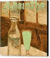 Absinthe Art Nouveau Advertisement Canvas Print by