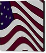 Abstract 50 Star American Flag Flying Enhanced Cropped X 2 Canvas Print by L Brown