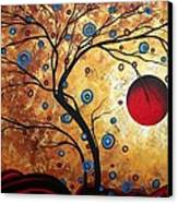 Abstract Art Landscape Tree Metallic Gold Texture Painting Free As The Wind By Madart Canvas Print by Megan Duncanson