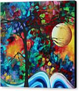 Abstract Art Original Enormous Bold Painting Essence Of The Earth I By Madart Canvas Print by Megan Duncanson