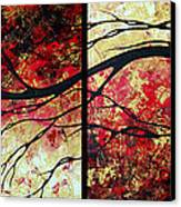 Abstract Art Original Landscape Painting Bring Me Home By Madart Canvas Print by Megan Duncanson