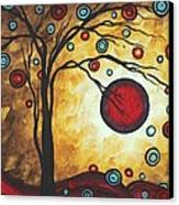 Abstract Art Original Metallic Gold Landscape Painting Freedom Of Joy By Madart Canvas Print