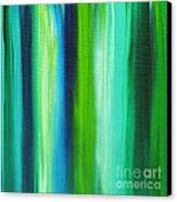 Abstract Art Original Textured Soothing Painting Sea Of Whimsy Stripes I By Madart Canvas Print by Megan Duncanson