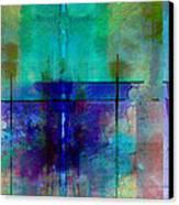 abstract - art- Rhapsody in Blue Canvas Print by Ann Powell