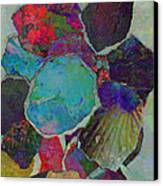 Abstract Art Torn Collage  Canvas Print by Ann Powell