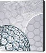 Abstract Background With Buckyball Canvas Print by Christos Georghiou
