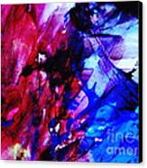 Abstract Blue And Pink Festival Canvas Print by Andrea Anderegg