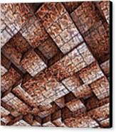 Abstract Ceiling Stone Construction  Canvas Print