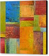 Abstract Color Study Collage Ll Canvas Print by Michelle Calkins