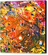 Abstract - Crayon - The Excitement Canvas Print by Mike Savad