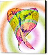 Abstract Crazy Daisies - Flora - Heart - Rainbow Circles - Painterly Canvas Print